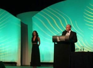 Our sister company Marketing4Restaurants.com is recognized as a leader in digital marketing for restaurants, cafes and take aways. Here James presents the Best Specialty Restaurant awards at the 2012 Restaurant and Catering Awards in Brisbane.