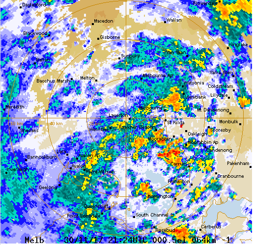 Weather Radar melbourne map